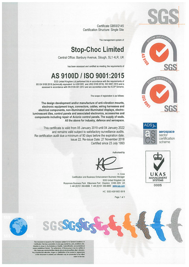 ISO Certificate 2022
